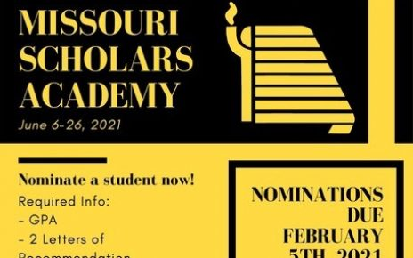 Nominate a 2021 Scholar!